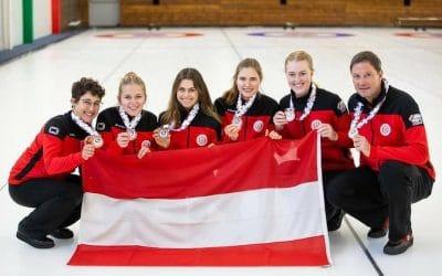 Damen Curling Team AUT holt Bronze bei C-EM in Genf